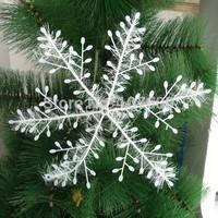 Wholesale 3PCS/lot 11cm PVC Christmas snowflakes Christmas tree decoration snowflake X'mas dance party venue Snowflake sheet