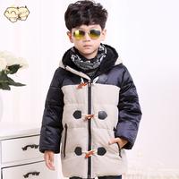 Winter down coat 2014 kids outwear boy winter coat the boy size 110cm 120cm 130cm 140cm Zipper down outwear Down jacket