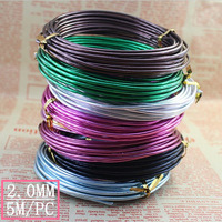 2mm aluminum wire for DIY craft handmaking flower wire 5 meters free shipping Min order $5.99