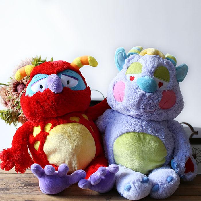 Exported to France, plush velvet coral little monster elves, children infant Plush Toys(China (Mainland))