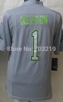 Wholesale 18.5usd/pc Cam Newton Jersey Cheap Carolina #1 Cam Newton Pro Bowl Grey Elite Jersey  Free Shipping Mix Order