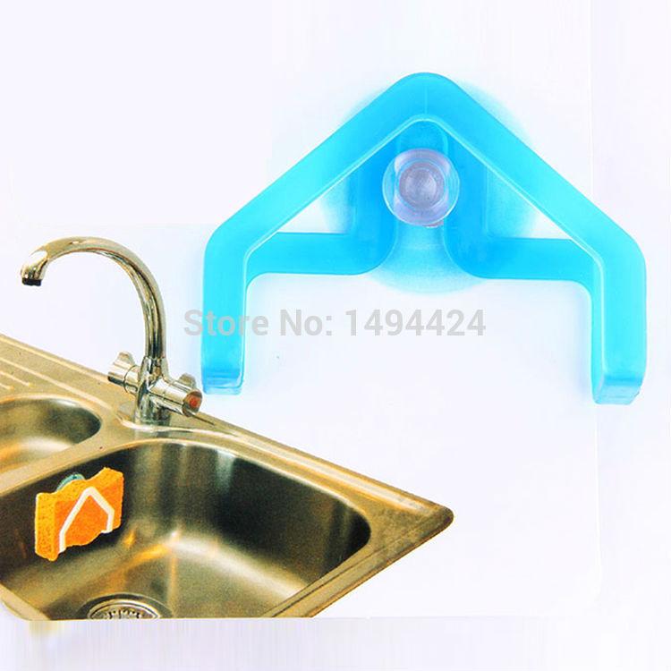 Convenient Sponge Suction Cup Sink Holder Bathroom Kitchen storage Tools Gadget Decor Rack Wall Dish Cloth Organizer Hanger(China (Mainland))