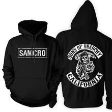 high quality 2014 screen printed Sons of anarchy samcro sitcoms jax thickening fleece sweatshirt hoodie pullover(China (Mainland))