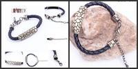 Leopard alloy Snake Print Leather woven fashion retro charm bracelet