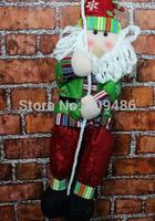 45X10CM Santa Claus Climbing rope Plush dolls Christmas decorations Xmas Christma Gift Party New Year Decor Free shipping XD5