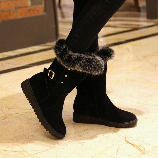 New Women winter warm snow boots lady fashion sexy western flat boots size 34-39(China (Mainland))