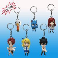 Fairy Tail key chain key ring pendant 6 pcs set Cartoon & Anime Natsu Lucie Gray Elza Happy Puru