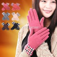 New arrival Brand 2014 Autumn Winter gloves for Women Korean Fashion Australian warm Thermal Wool full finger cycling gloves