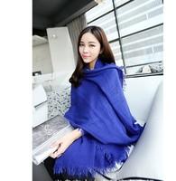 19 Colors Factory sell Women's Solid Cotton Shawl Wrap Scarves  Plain Linen cotton Long Scarves Black Headband