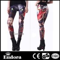79423 Eudora Brand 2014 New Fashion Casual Women Sexy High Waist Stretch Skinny  Tights  Character Print  WholesaleLeggings