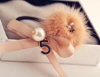 2014 new Korean fashion personality wild small fresh sweet temperament OL retro bow pearl hair accessories   F7079
