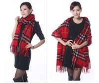 2014 Hot Sell Winter Scarves Fashion Designer Style Scarf Women Plaid Thick Scarves Shawl For Men Long Scarf  WJ03