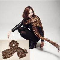 Hot Sale Beautiful Ladies' Grey/ Leopard/Animal Print Chiffon Long Scarf/Shawl/Stole 160 cm X 48cm