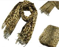 Classic fashion lady winter warm leopard acrylic scarf