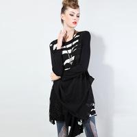 2014 Brand Women Stripe Print Winter Lace Dress Fashion New Arrival Casual Vestidos de Festa