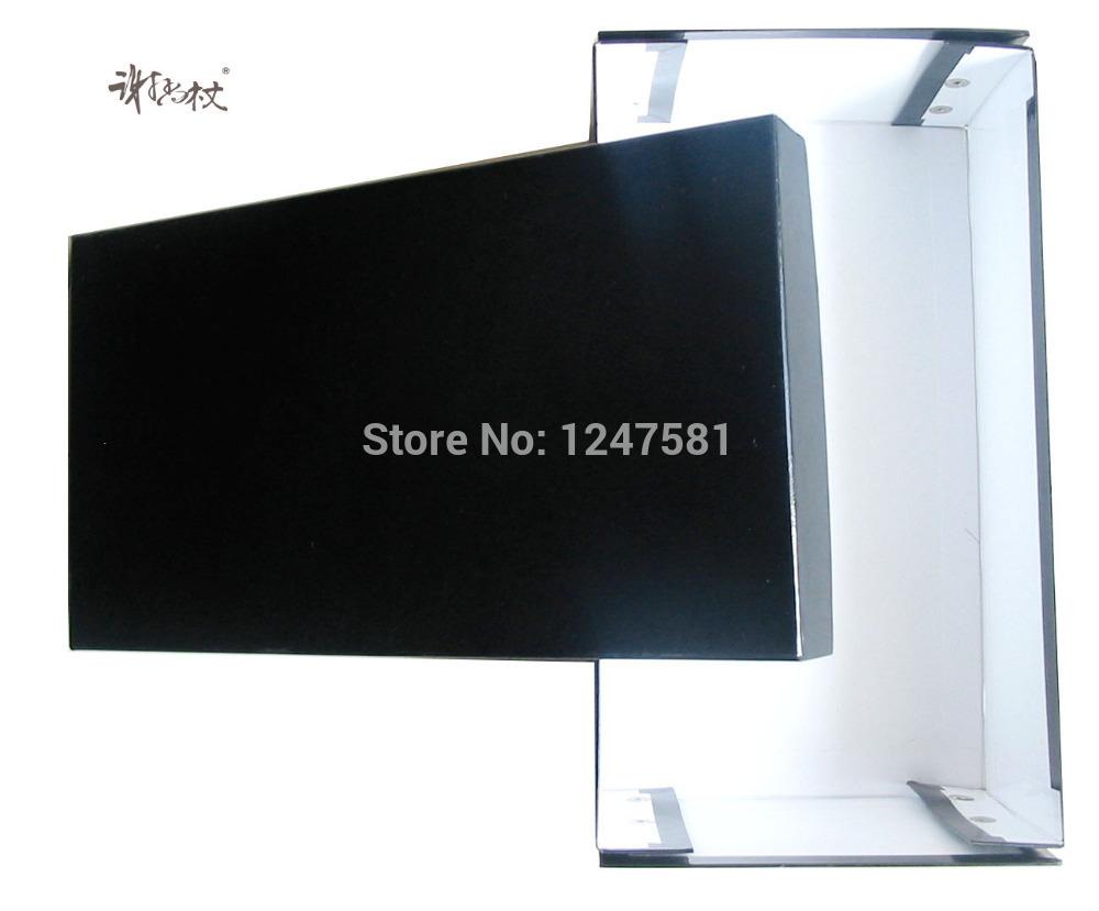 Elegant black Custom Shoe Packing Box Wholesale Fashion Custom elegant rectangular shoe packing box(China (Mainland))