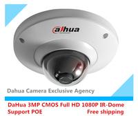 Free shipping DaHua Dome IP Camera Full HD 1080P 3MP CMOS HDB4300C English firmware version V2 Support POE