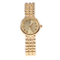 Fashion Women'S Clothing Gold Round Bead Bracelet Watches Women Dress Collocation Quartz Watches Free Shipping