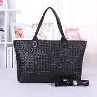 100% Genuine Leather NEW SALE!2014 Pure Sheepskin Leather Women's One Shoulder Bag Handbags Portable Big Bag Black for Female