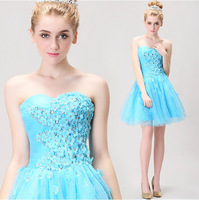2014 blue short paragraph Bra tutu princess dress gown party dress evening dress manufacturers whoeslae