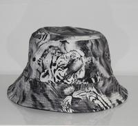 2015 print tiger summer bucket hats for men women hip hop sun cap