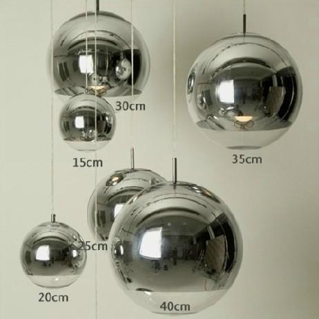 Modern Tom Dixon Copper Mirror Ball Lustre Chandelier LED Pendant Globe Mirror Glass Ball Bubble Lamp Christmas Light Fixture(China (Mainland))