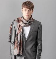 plaid bufandas men christmas fashion mex printed casual scarves   brand winter cheap tartan scarf men