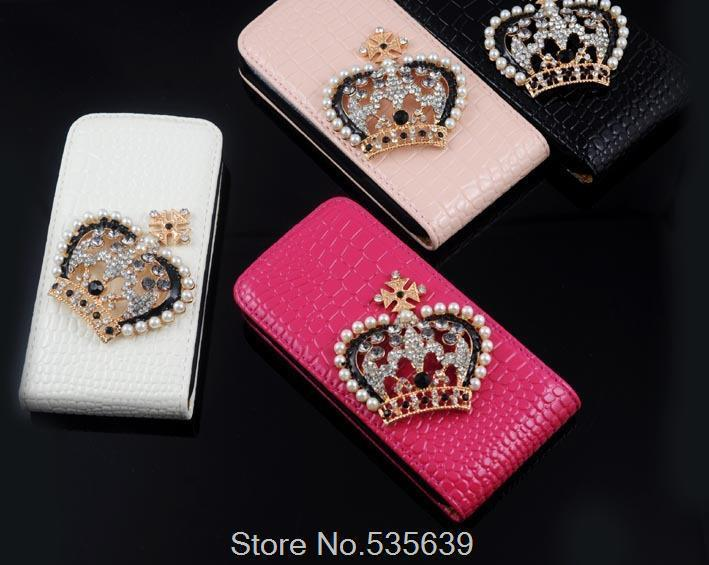 For iphone 6 4.7inch Luxury 3D Bling Crystal Diamond DIY Clear Hard Back Cover leather Case for iphone 6 1pcs free shipping(China (Mainland))