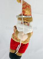 52X13CM Santa Claus Climbing rope Plush dolls Christmas decorations Xmas Christma Gift Party New Year Decor Free shipping XD4