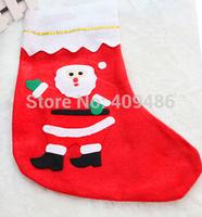 23X15CM Santa Claus STOCKING socks Christmas decorations Xmas Christma Gift Party New Year Decor Free shipping XD6