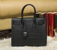 New Arrival 2014 Fashion High Quality Vintage Celebrity Noble tote Bag Crocodile Women's Genuine Leather Famous Brand Handbag