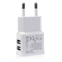 Dual USB 2-Port Home Travel Wall Charger Adapter For Samsung iphone EU Plug white/black freeshipping
