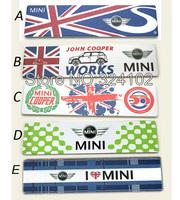 20pcs 3D Union Jack MINI Cooper alloy Aluminum Badges Emblem D007