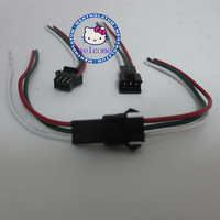 100 Pair 3 Pin JST Connectors For LED Strip Female Male 3PIN plug and socket,with 15cm long wire each 22AWG wire;red/green/white
