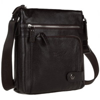 New fashion genuine leather messenger bag 100% cowhide high quality for man, solid color bag with zipper, wholesale