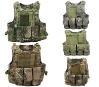 New Color 600D Military Tactical Airsoft Molle Combat Assault Plate Carrier Vest camouflage 5color