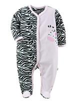 FREE SHIPPING NWT Baby / Infant Girls' Sleepwear / Romper PINK ZEBRA 0~12months (4113)