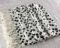 Classic fashion lady winter warm star viscose scarf