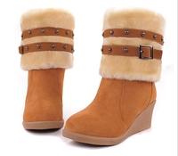 autumn boots winter knee high boots platform shoes women suede snow boots women snowshoes bottes BW65