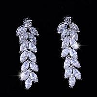 Hot Bride Cubic Zirconia Earrings CZ Earrings Wheat