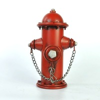 Fashion Retro Metal Fire Hydrant Model Money Box Decorative Iron Art Piggy Bank Gift Craft Accessories for Home, Bar and Coffee