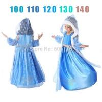 2014 NEW Retail hot sell children/kids/girls frozen vest dress and cloak / Frozen Elsa dress / Performance dress