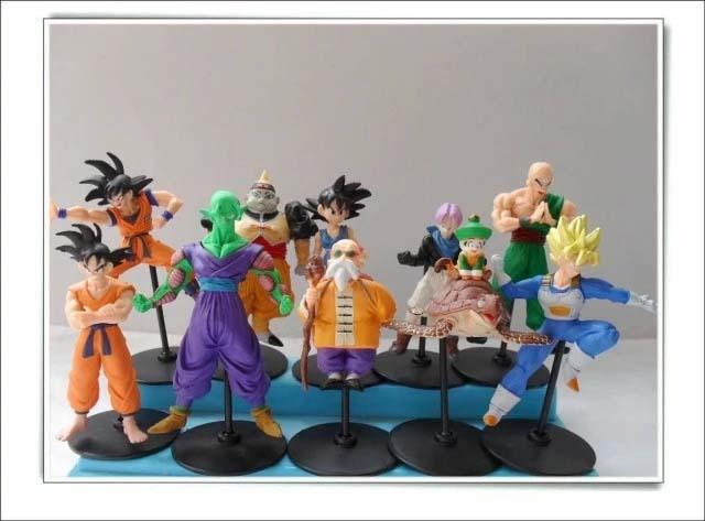 10pcs/ Lot Dragonball Z Dragon Ball DBZ Anime CELL/FREEZA/Goku Super Saiyan Figures Classic Toys for Boy Child Kid Free Shipping(China (Mainland))