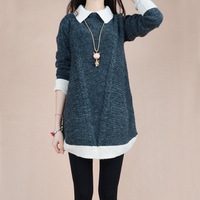 2014 New Winter Warm Sweater Dress Plus Size Vintage Casual Women Dress Blusas Lady Tunic Vestido De Desta Red,Grey,Khaki