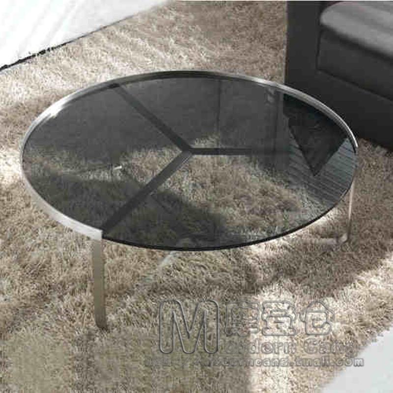 European minimalist modern warehouse stainless steel coffee table coffee table coffee table living room coffee table large circl(China (Mainland))