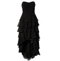Ink landsides Tube Top Asymmetrical Chiffon Fashion Women's Banquet Dress Long Design One-piece Dress Layered PROM Dress