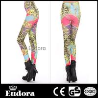 79420 Eudora Brand 2014 New Fashion Sexy High Waist Stretch Fitness Vintage Leopard Print  Punk Wholesale Leggings Women