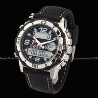 Watch Men Sports Military Watch Fashion Casual Dress Dual time Digital Analog Quartz  Watches Wristwatches Relogio Masculino H33