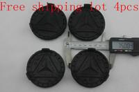 Free shipping fast ship 4 pcs 75mm mercedes benz hub cap mb emblem badge p/n 1714000025 blue/black classic mercedes center cap