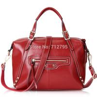 Big Sale new arrival fashion style Genuine leather bag locomotive package hand/shoulder dual-use